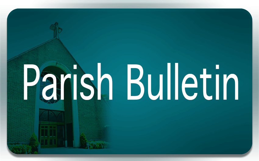 parish bulletin button